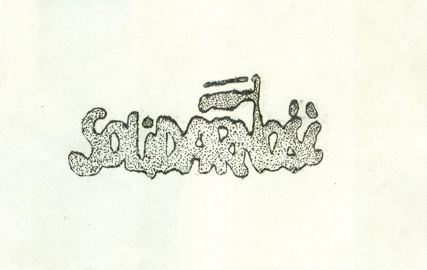 Monochoromatyczne logo Solidarność